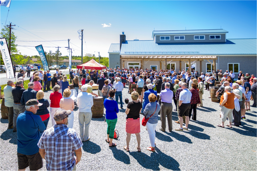 Large gathering at the Authentic Seacoast Distillery & Brewery Grand Opening