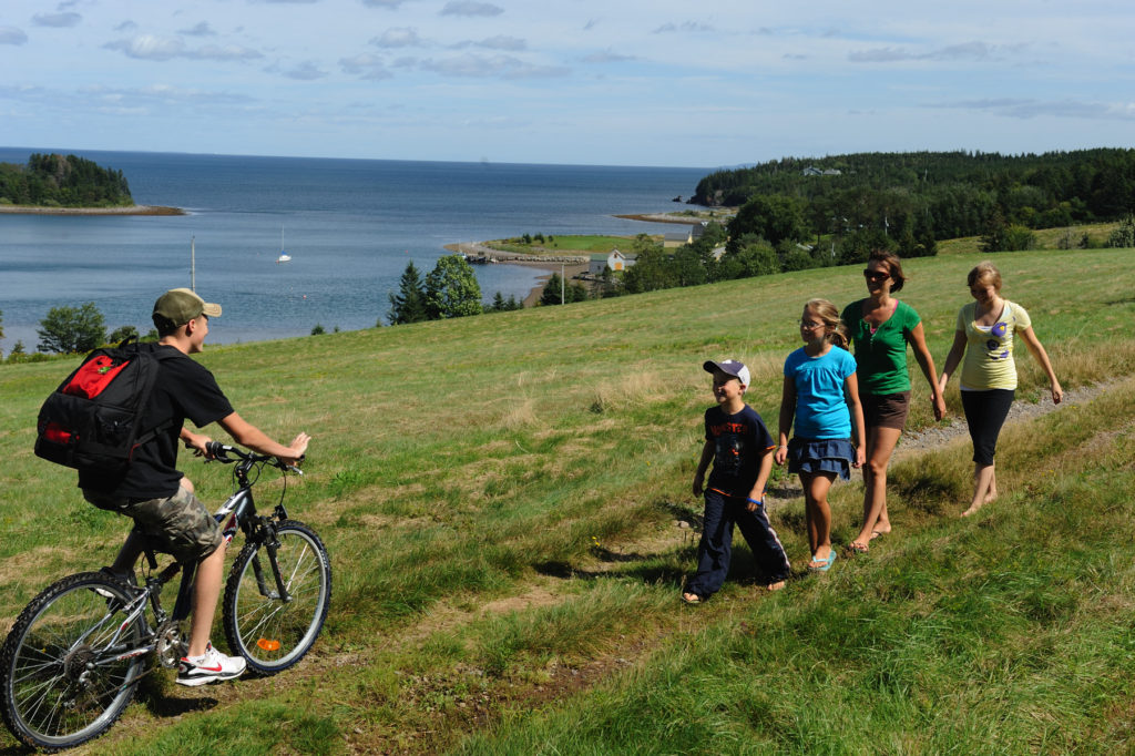 Biker and hiking family in Guysborough